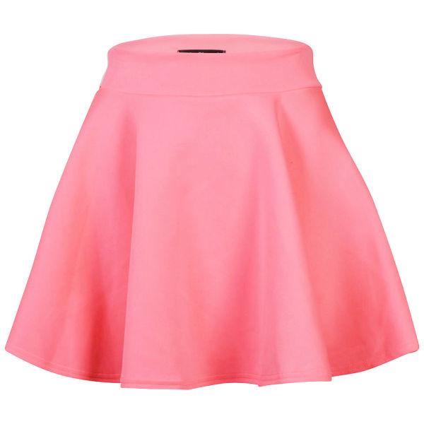 glamorous s neon pink skater skirt neon pink