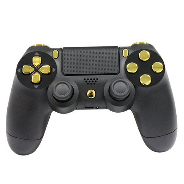 Playstation Dualshock 4 Custom Controller Gold On Matte
