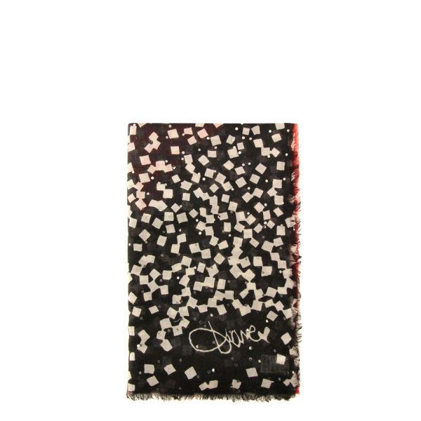 Diane von Furstenberg Hanover Peach Confetti Scarf - Confetti Peach Coral