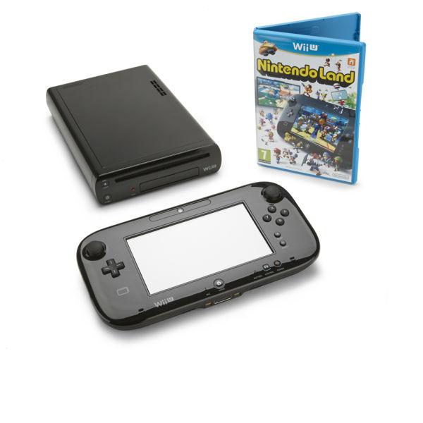 Wii U Console: 32GB Nintendo Land Premium Pack - Black USED