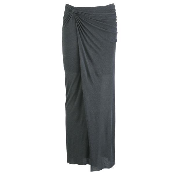 Helmut Lang Women's Slit Skirt - Titanium