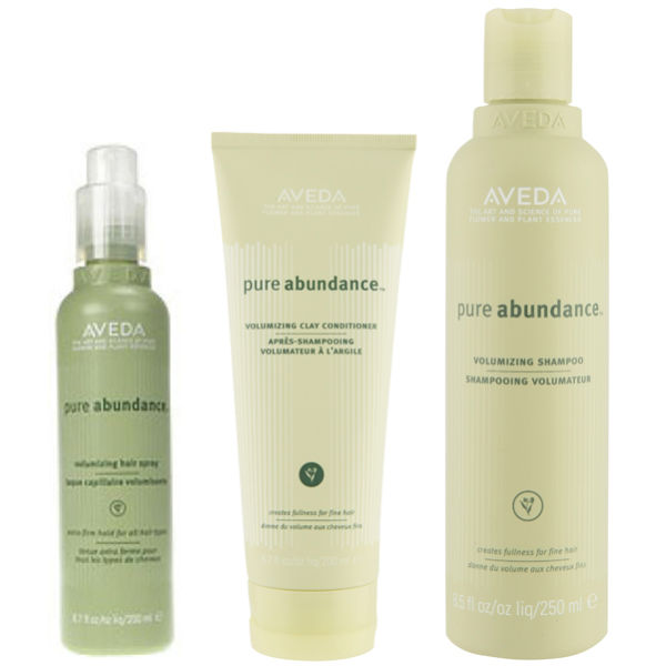 Aveda Volumen Haarpflege Trio Pure Abundance Shampoo, Conditioner & Hair Spray