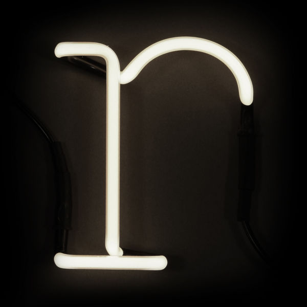 Seletti neon wall light letter r free uk delivery for Large neon letters
