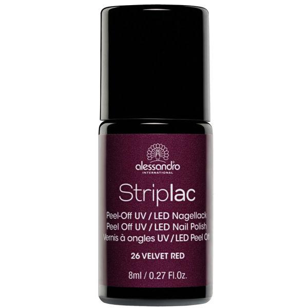 Velvet Nail Polish: Striplac Velvet Red UV Nail Polish (8ml) Health & Beauty