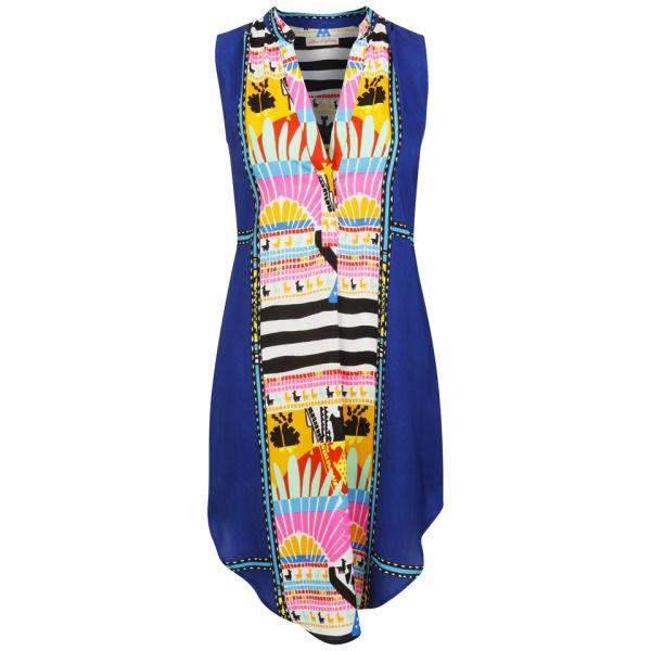 Mara Hoffman Women's Sleeveless Shirt Dress - Sunrise Navy