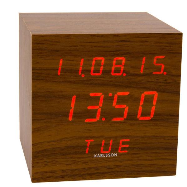 Karlsson Table Alarm Clock Led Cube Iwoot