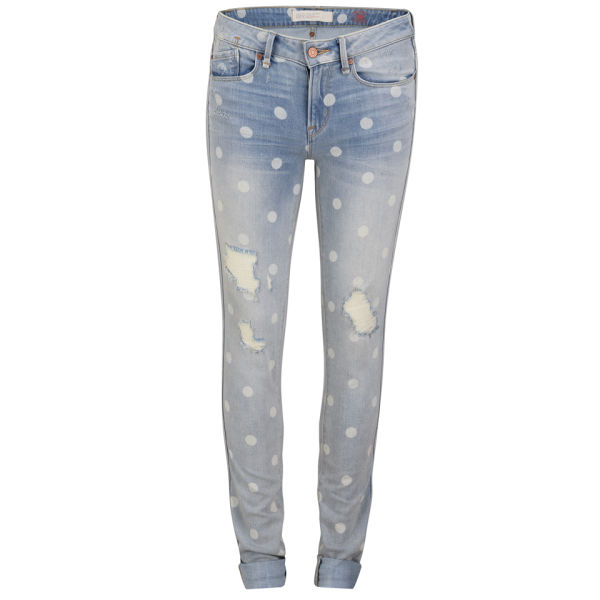 Marc by Marc Jacobs Women's Rolled Mid Rise Slim Fit Jeans - Lily Dot - W25