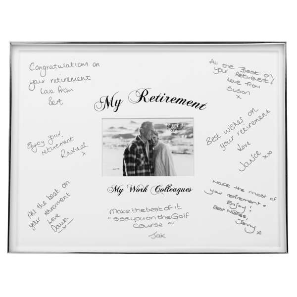 Retirement signature and picture frame traditional gifts zavvi com