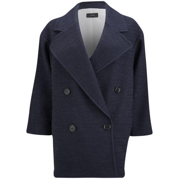Joseph Women's Maubert Summer Tweed Coat - Navy