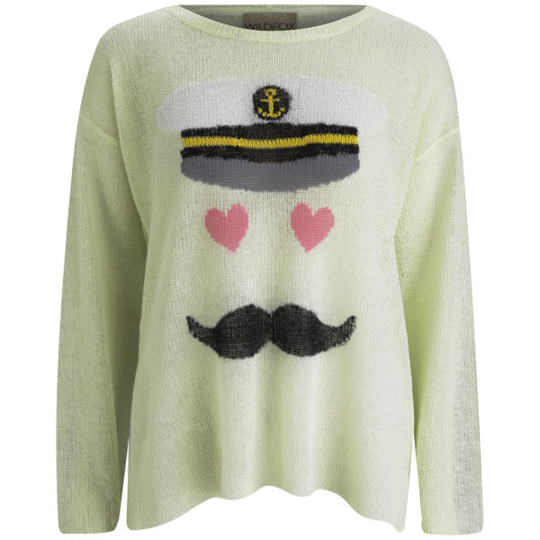 Wildfox Women's Captain Jumper - Sour Green