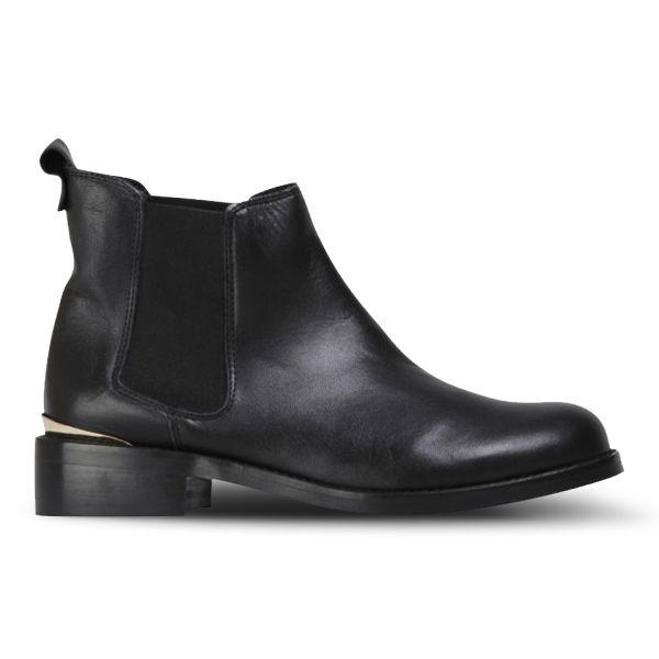 KG Kurt Geiger Women's Short Leather Chelsea Boots - Black