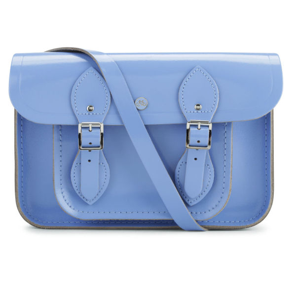 The Cambridge Satchel Company 11 Inch Patent Leather Satchel - Bellflower Blue