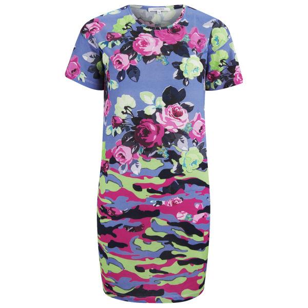 Carven Women's Floral Camouflage Dress - Blue