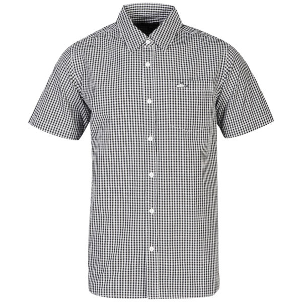 Atticus Men's Equal Ginham Short Sleeve Shirt - Black/Light Grey
