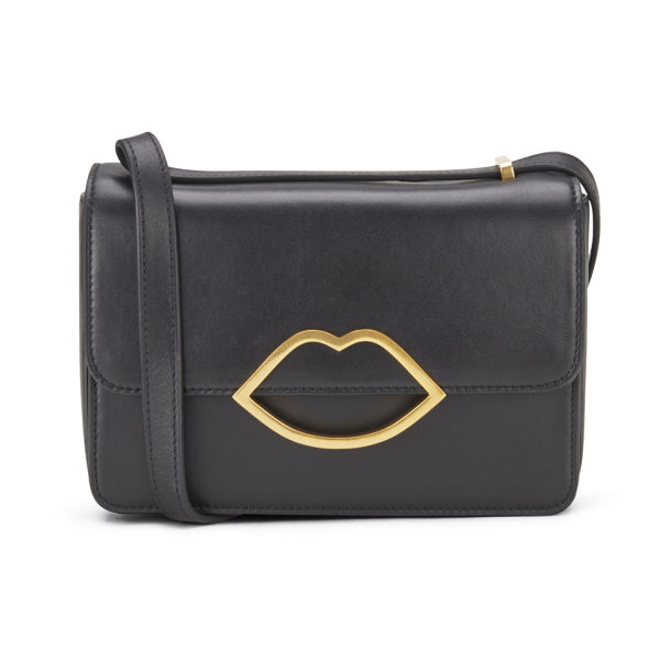 Lulu Guinness Edie Small Leather Cross Body Bag - Black