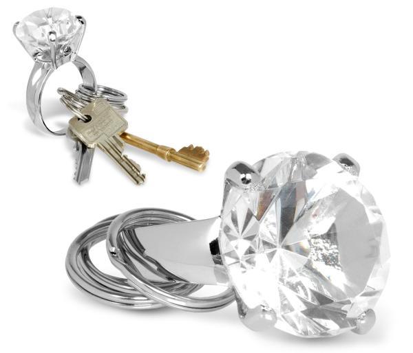Big Diamond Ring Keyring