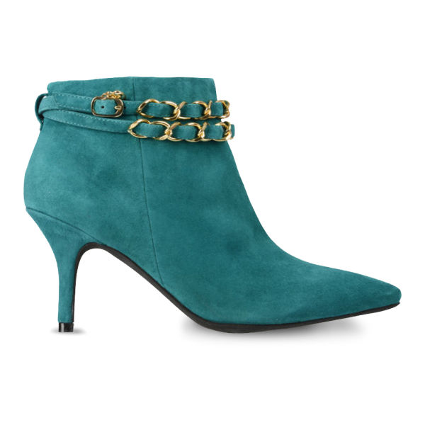 Love Moschino Women's Heeled Ankle Boots - Teal