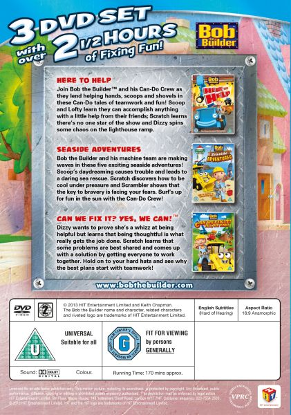 Builder: Fix it Pack (Here to help / Seaside Adventures / Can We Fix ... Bob The Builder Can We Fix It Dvd