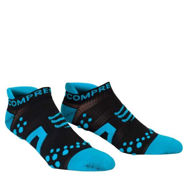 Compressport Pro Racing Socks - Run (Lowcut) - Black/Blue