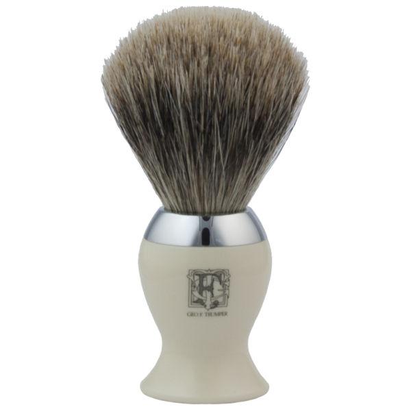 Geo. F. Trumper IB2IB Simulated Ivory&Chrome Best Badger Shaving Brush
