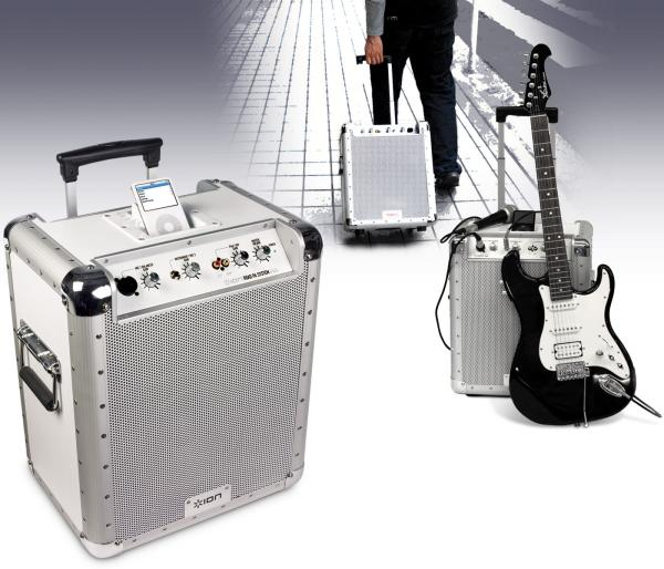 Ion Block Rocker Portable Pa Speaker System With Ipod Dock