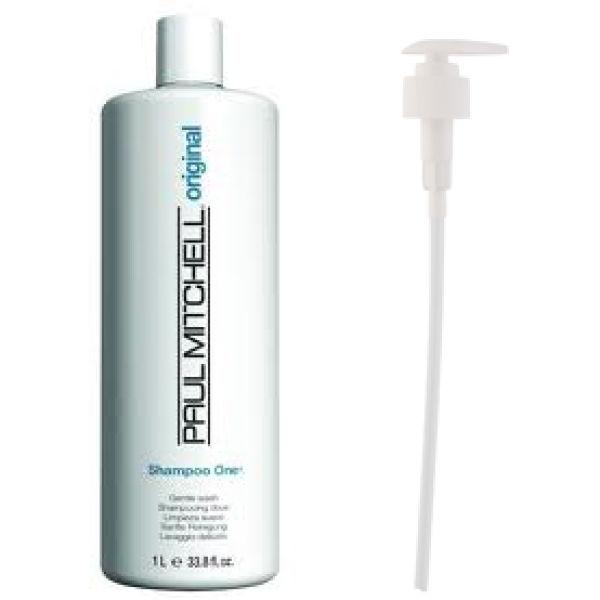 Paul Mitchell Shampoo One (1000ml) with Pump (Bundle)