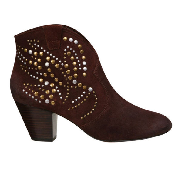 Ash Women's Jessica Heeled Ankle Boots - Prune