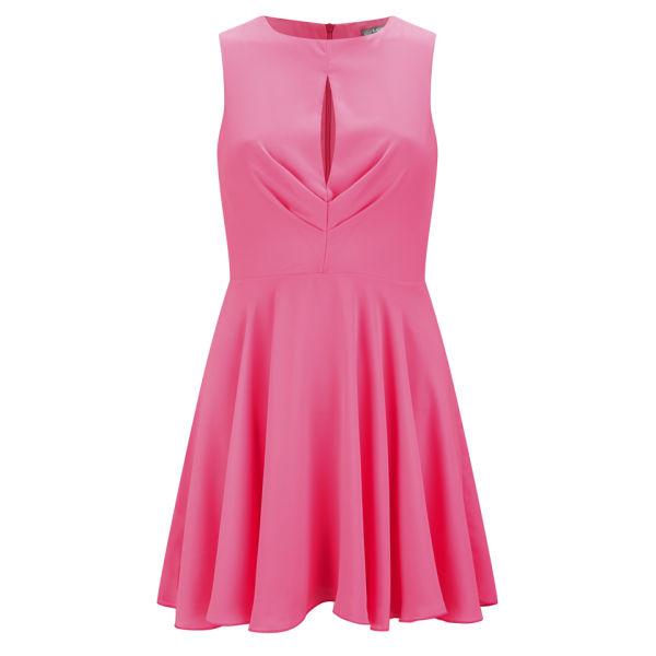 Love women 39 s pleated dress pink womens clothing zavvi Pink fashion and style pink dress