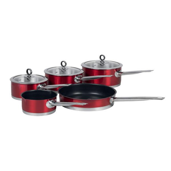Morphy Richards Pots And Pans: Morphy Richards 46411 Accents 5 Piece Pan Set