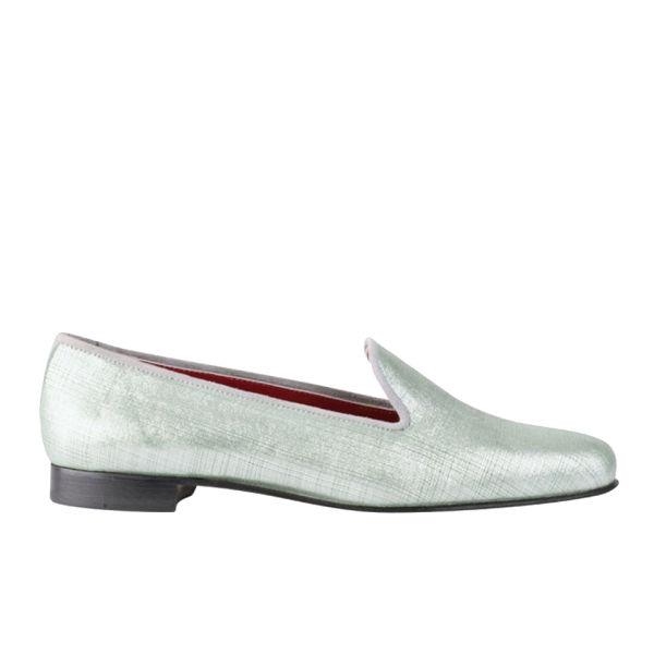 Penelope Chilvers Women's Exclusive to Harper's Bazaar Dandy Leather Slippers - Silver
