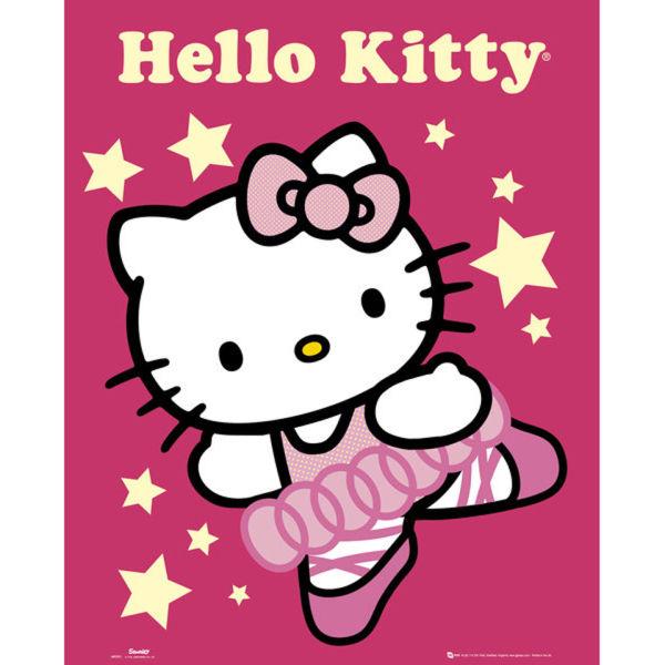 Hello kitty ballerina mini poster 40 x 50cm merchandise zavvi - Ballerine hello kitty ...