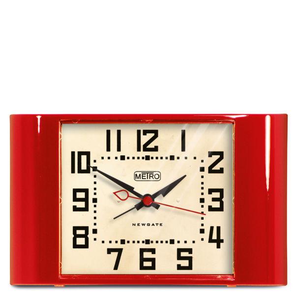 Newgate Mini Metro Clock - Red