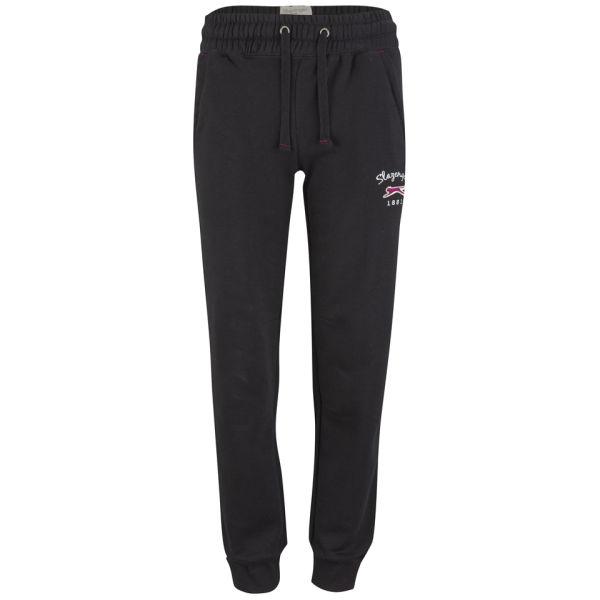 Luxury Women Hot Fashion Black PU Lounge Jogging Pants With Pockets Faux