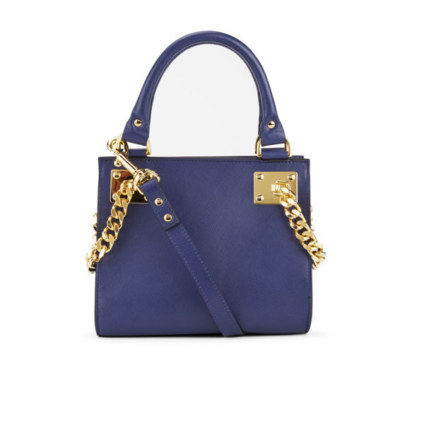 Sophie Hulme Women's Side Chain Mini Wing Leather Tote Bag - Navy