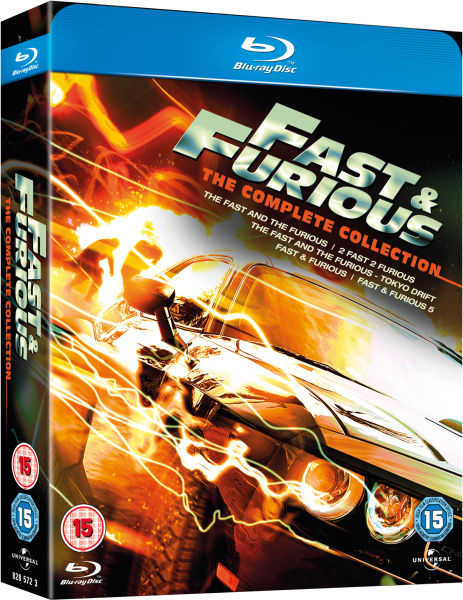 Fast and Furious 1-5 Blu-Ray