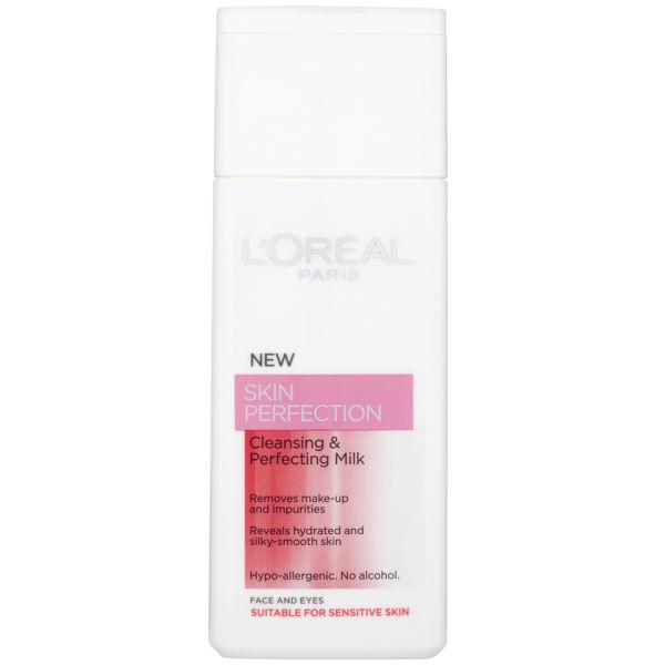 Leche limpiadora L'Oreal Paris Skin Perfectionpara pieles secas/sensibles(200 ml)