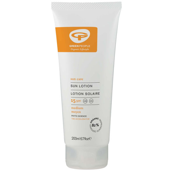 Green People Sun Lotion Spf15 With Tan Accelerator (200ml)