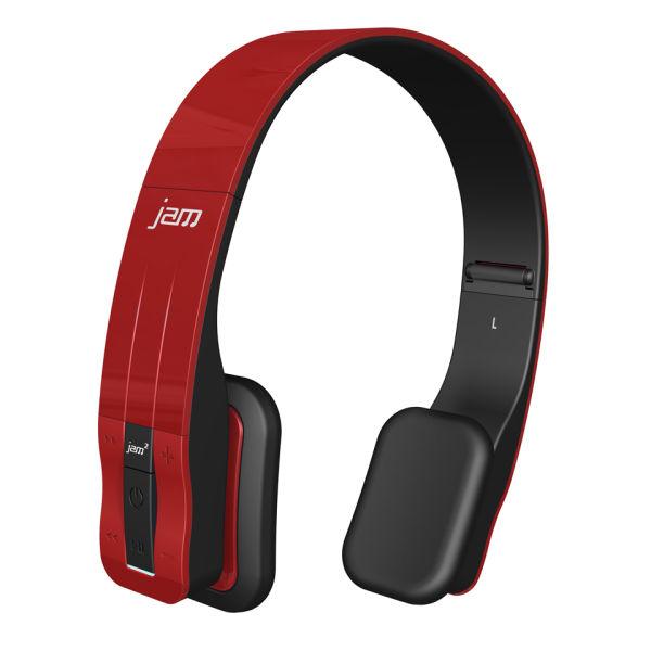 hmdx jam fusion wireless stereo bluetooth headphones red electronics. Black Bedroom Furniture Sets. Home Design Ideas