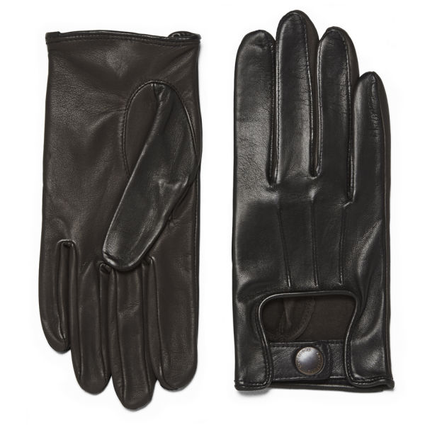 Knutsford Women's Lambs Leather Driving Gloves - Black/Brown