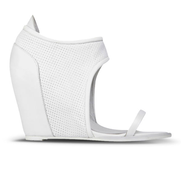Sol Sana Women's Albany Leather Wedges - White Perforated