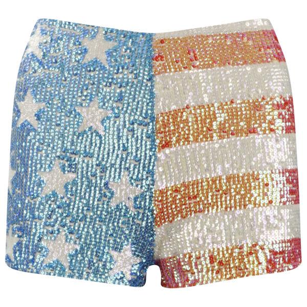 Wildfox Women's America Glitter Shorts - Multi