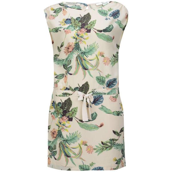 Maison Scotch Women's Botanical Print Mini Dress - Multi