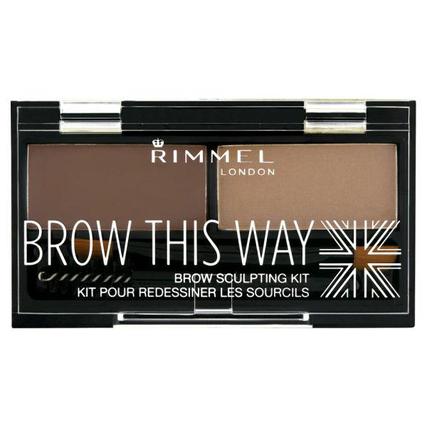 Rimmel Brow This Way Eyebrow Kit - Medium Brown