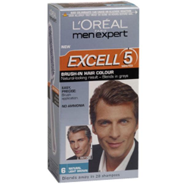 L Or 233 Al Men Expert Excell 5 Brush In Hair Colour Natural
