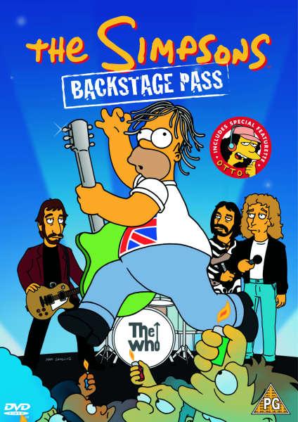 The Simpsons Backstage Pass Dvd Zavvi Com