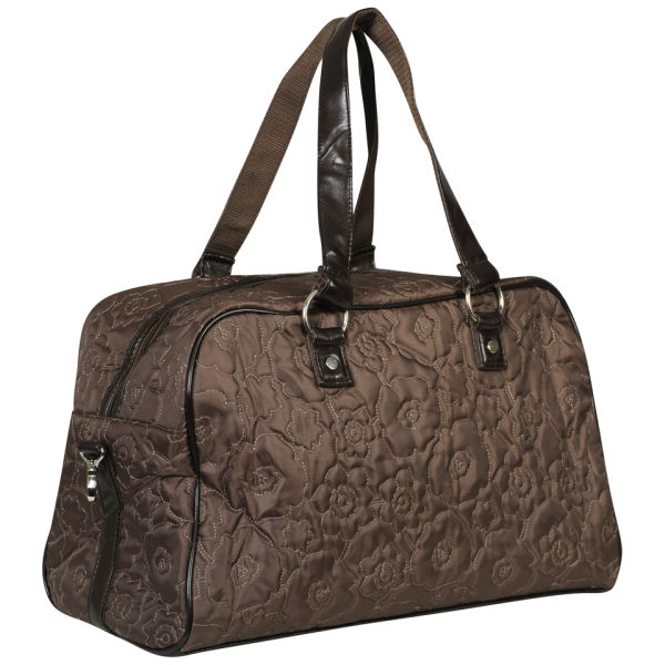 Thirty One City Weekender Tote Brown Poppy Womens