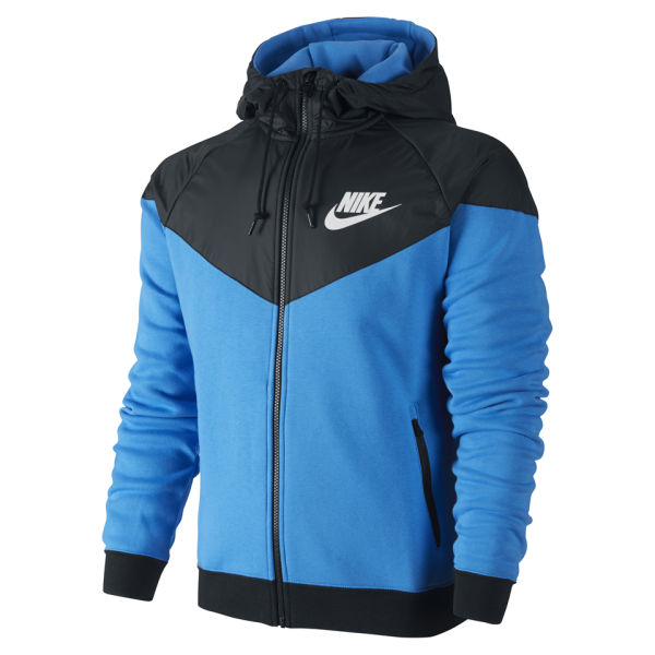 Nike Men S Windrunner Fleece Mix Jacket Photo Blue