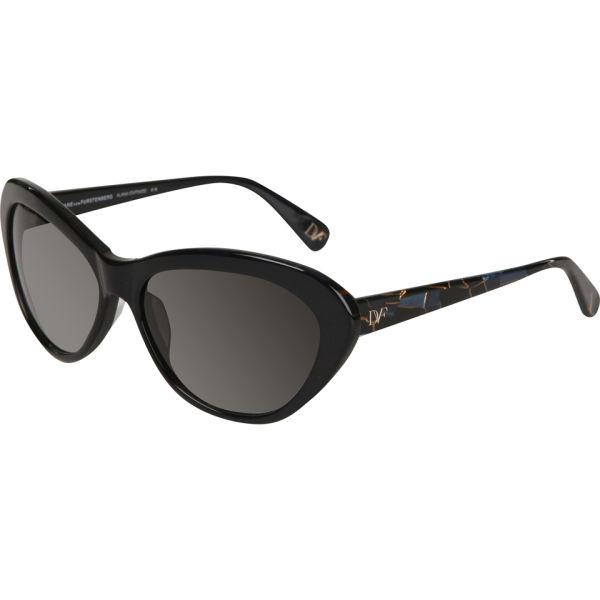 Diane von Furstenberg Alana Oval Sunglasses - Navy