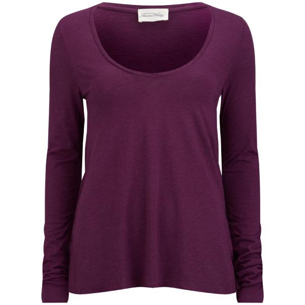 American Vintage Women's Jacksonville Long Sleeved T-Shirt - Plum