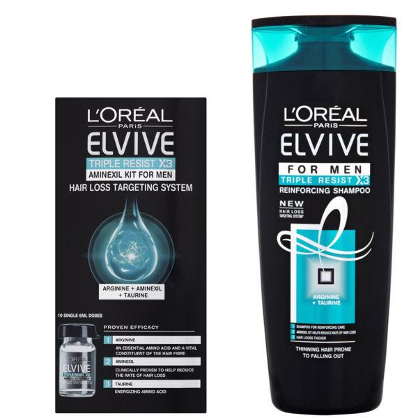 L Oreal Paris Elvive Triple Resist Aminexil Amp Shampoo Set